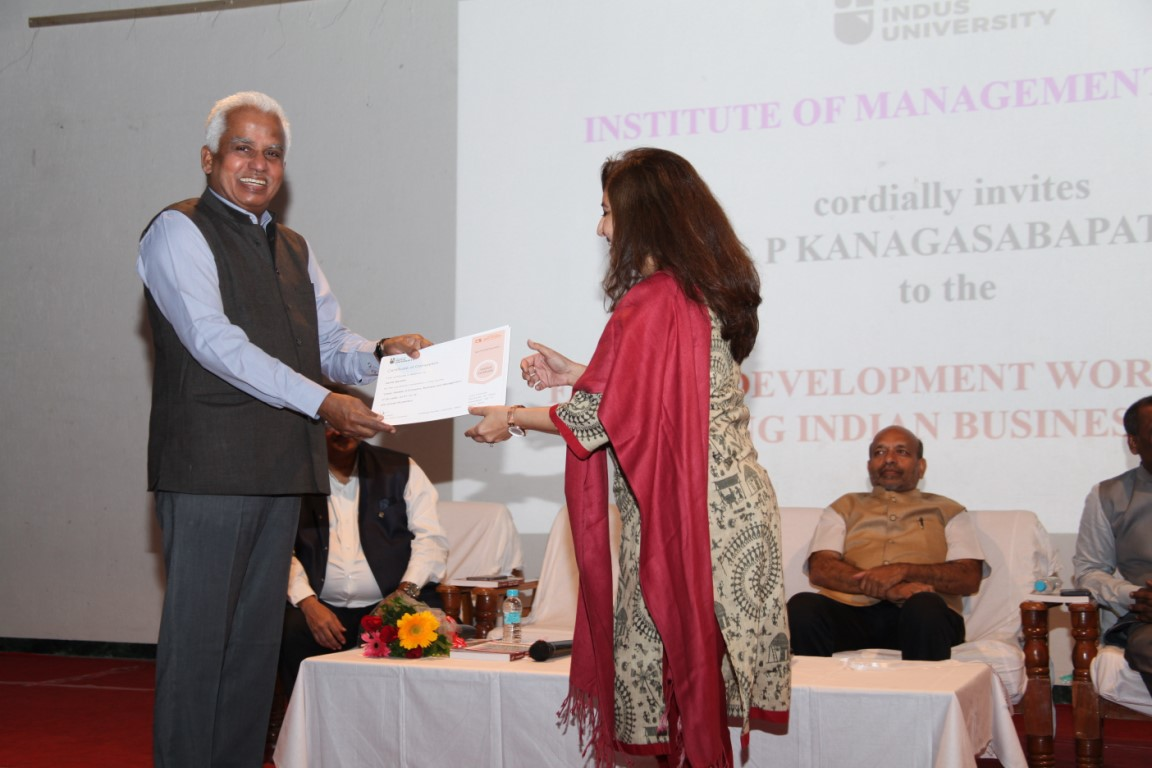 Dr. P. Kanagasabapathi at Indus University (11)