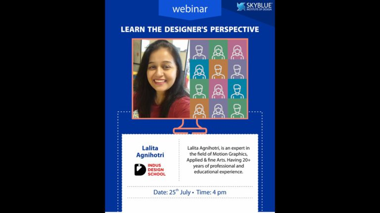 Learn the designer perspective - 25 July 2020