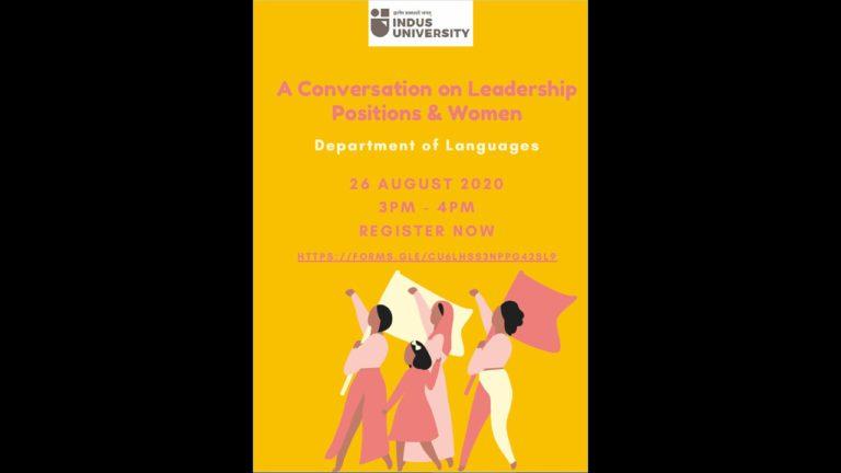Webinar - A Conversation on Leadership 26 Aug 2020