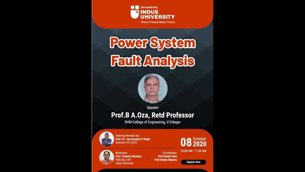 WEBINAR ON 'Power System Fault Analysis' on 8th October 2020 (1)