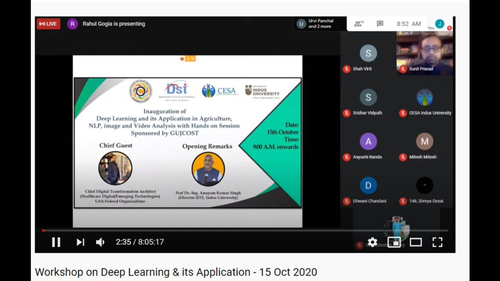 Workshop on Deep Learning 15-16 Oct 2020 (6)