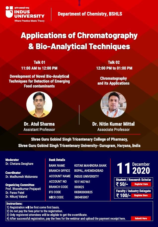 Webinar on Applications of Chromatography & Bio-Analytical Techniques