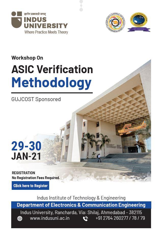 WORKSHOP (Online Mode) ON ASIC Verification Methodology