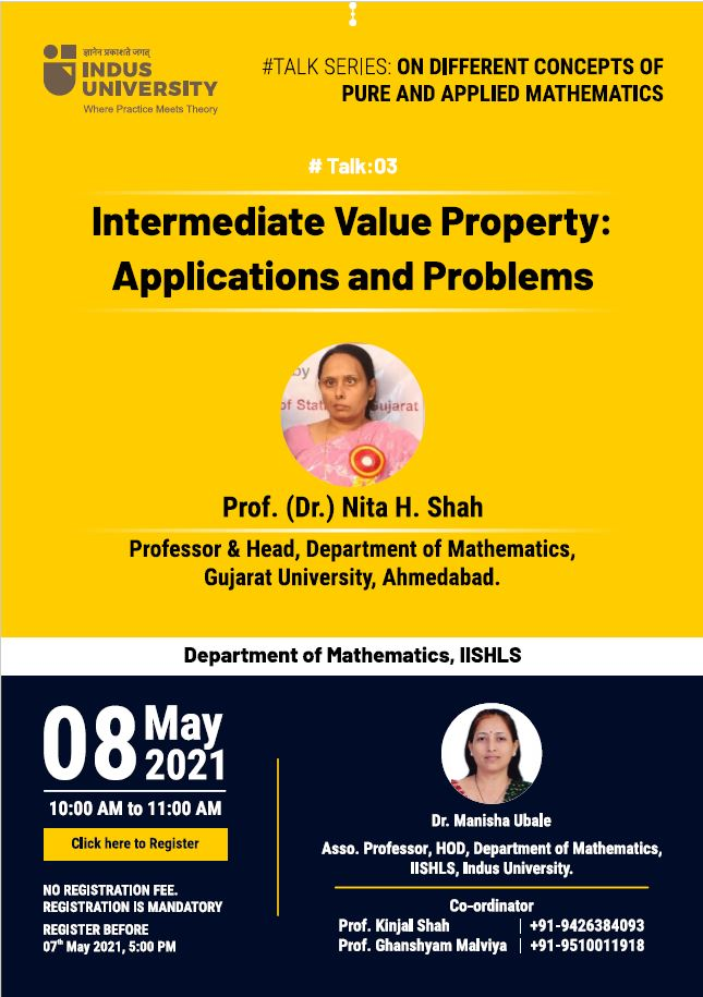Talk03 - Intermediate Value Properties - Applications and Problems