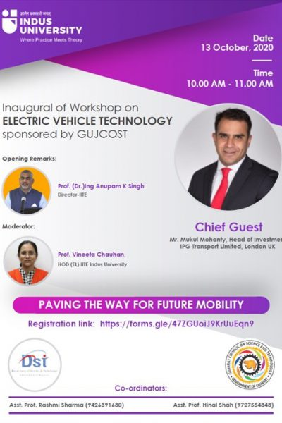 Workshop on Electric Vehicle Tech 13 Oct 2020 Poster